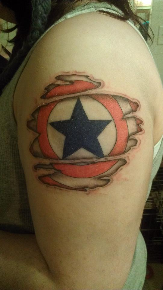 my captain america shield tattoo by insanitysopensky on deviantart. Black Bedroom Furniture Sets. Home Design Ideas