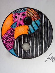 The Nightmare Before Christmas Yin Yang by vormaen