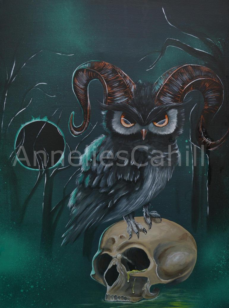 Horned owl by petmonkey202