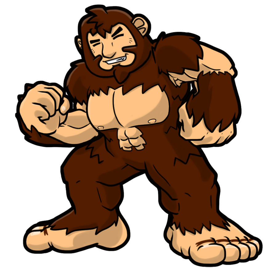 Bigfoot Drawings Clipart