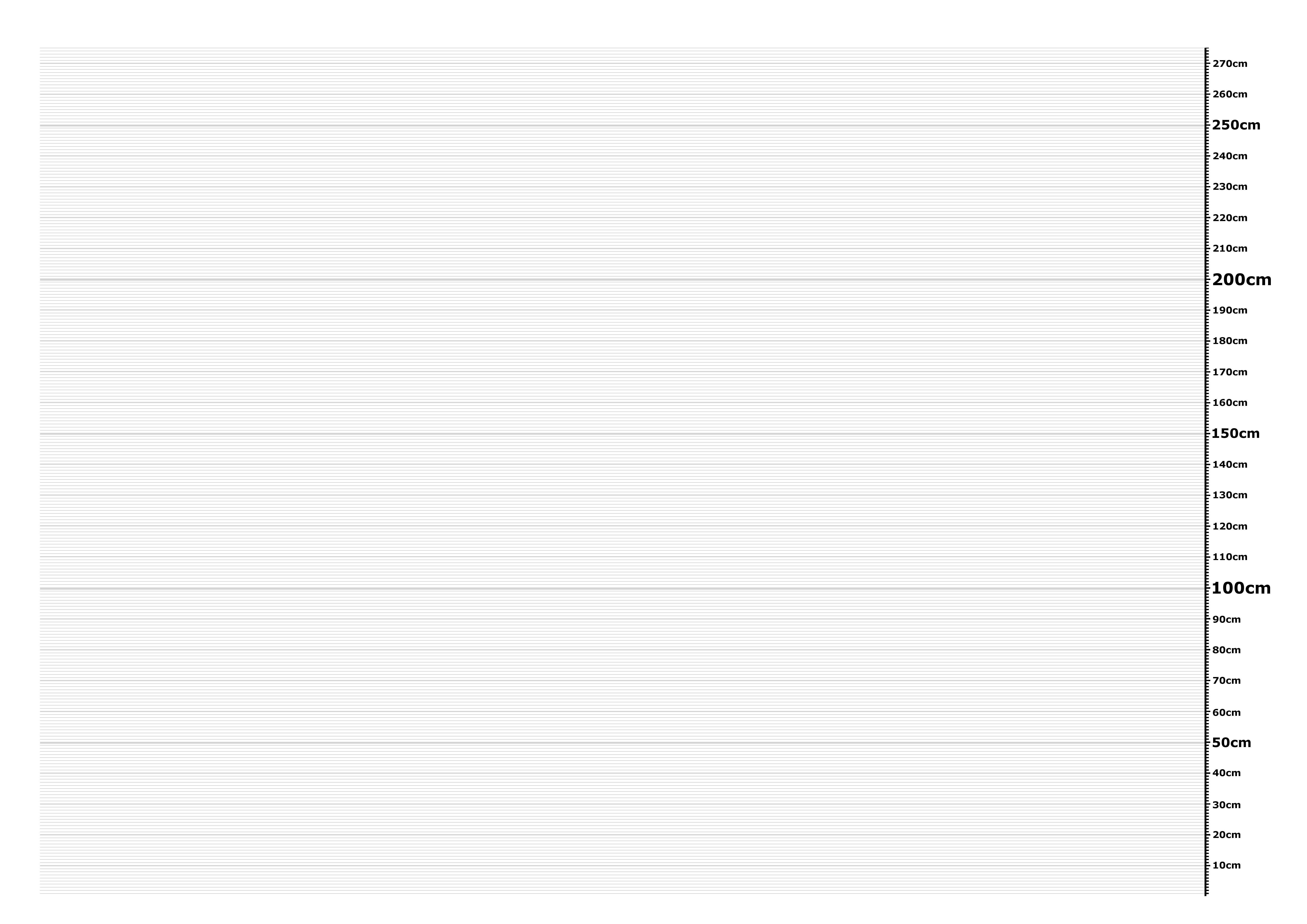 printable height chart