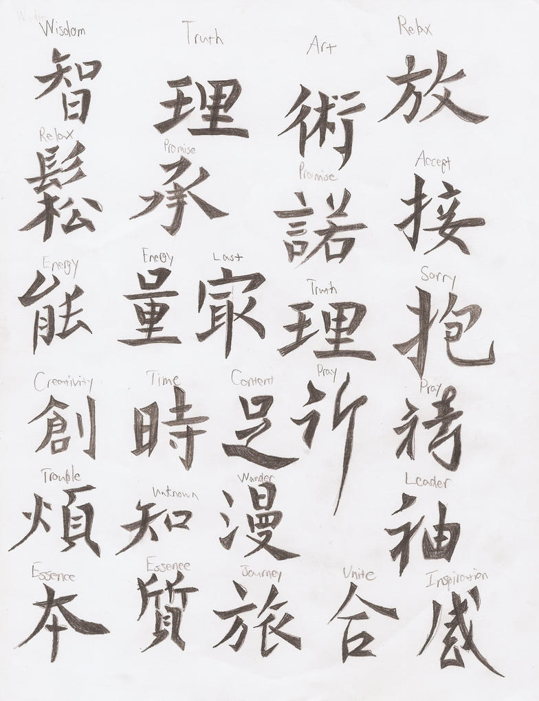 Chinese Calligraphy Font The Image Kid