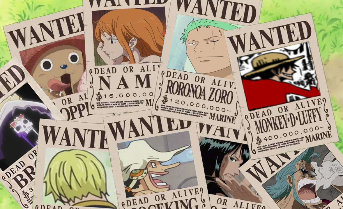 One Piece New Wanted PostersOne Piece Luffy Wanted Posters