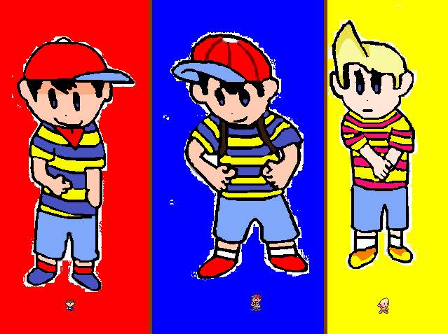Ninten Lucas And Ness By Mistydraw19 On Deviantart - Imagez co