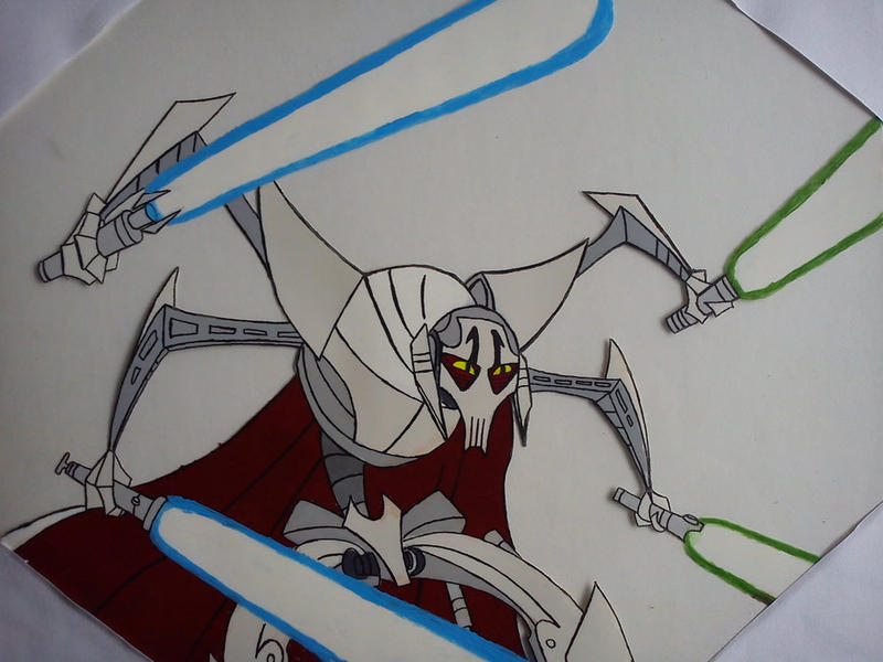 General Grievous Cell Painting By Shockblade501-d4 by commandervargus