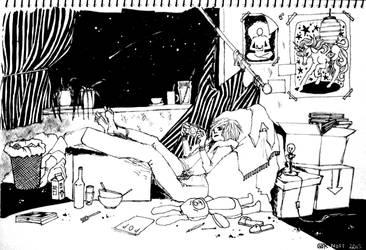 messy room by GOKNOTT