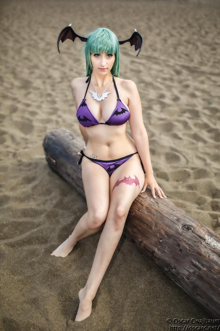 bikini morrigan by ocwajbaum on deviantart