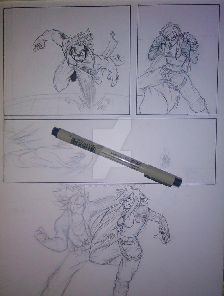 Reylec vs Astaghail pg. 6 (WIP) by grinningsorrow