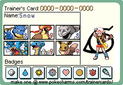 Trainer Card Snow by ArdeOnodera101