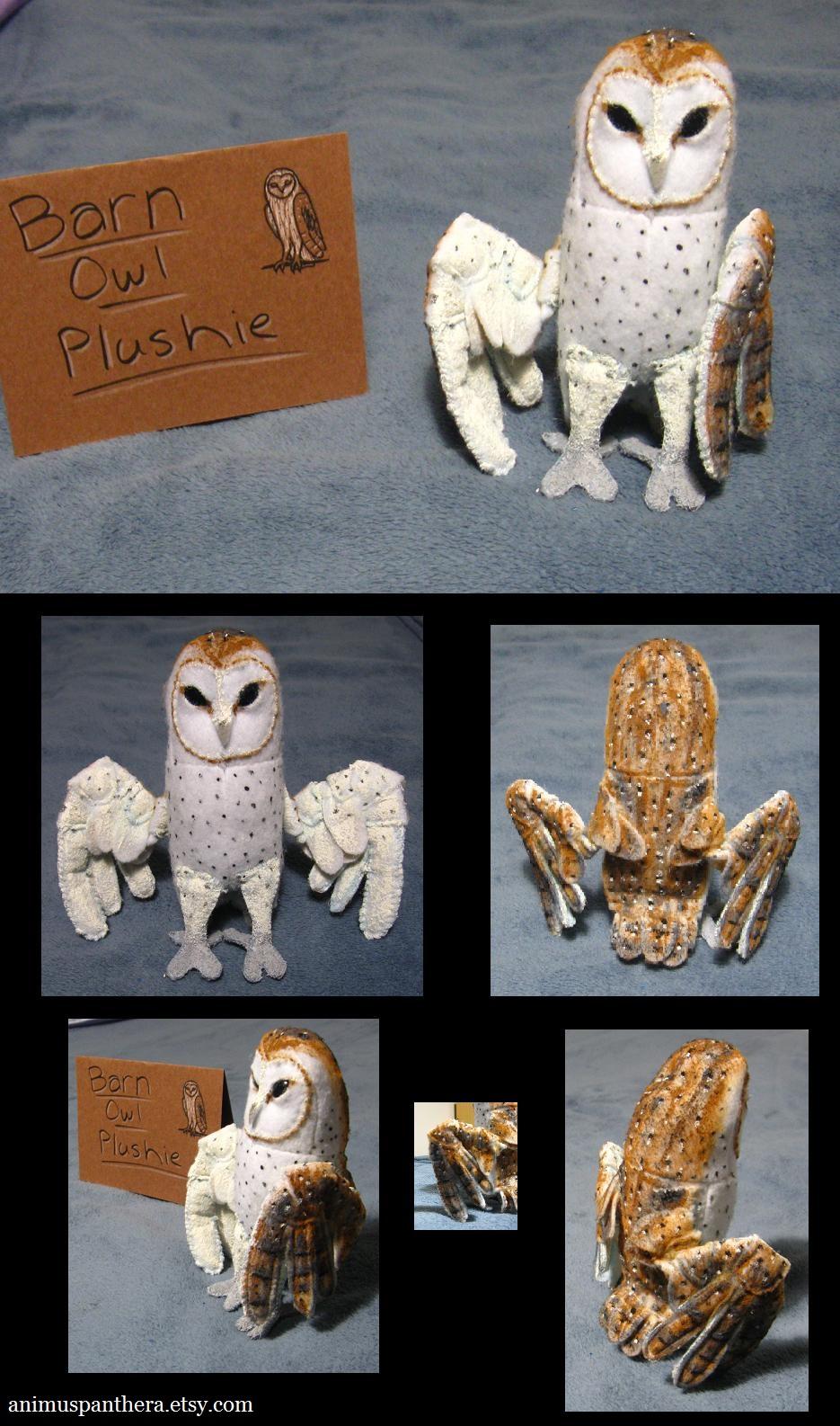 Common Barn Owl plush by Animus-Panthera