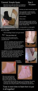 Spats tutorial part 1- pattern