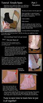 Spats tutorial part 1- pattern