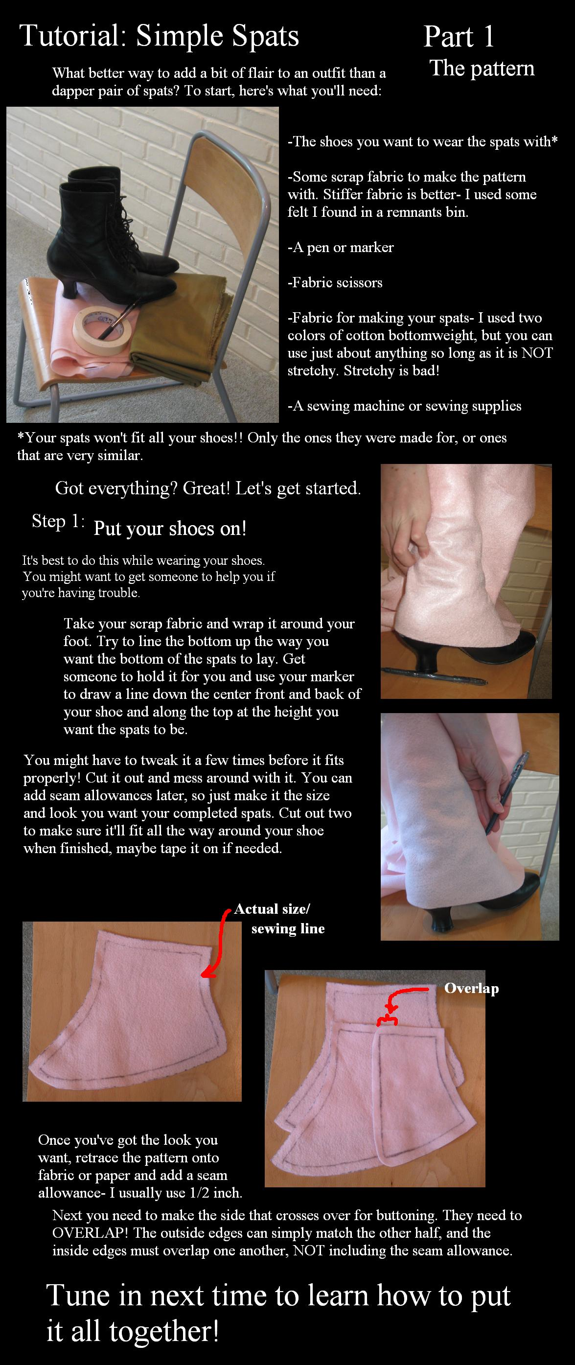 Spats tutorial part 1- pattern by Animus-Panthera