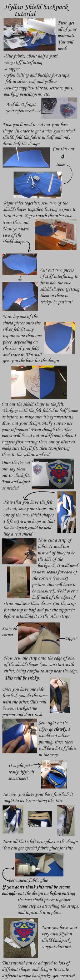 Zelda shield backpack tutorial