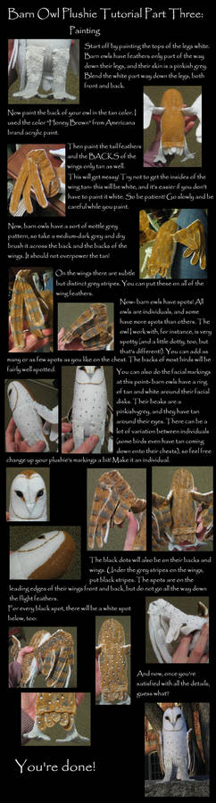 Barn Owl Plush Tutorial Part 3