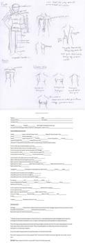 Measuring chart and sheet by Animus-Panthera