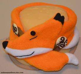 Sleepy Fox neck warmer by Animus-Panthera