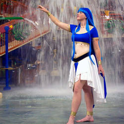 Chizeta!Umi Ryuuzaki - waterfall by Animus-Panthera