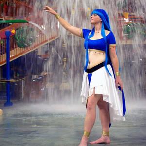 Chizeta!Umi Ryuuzaki - waterfall