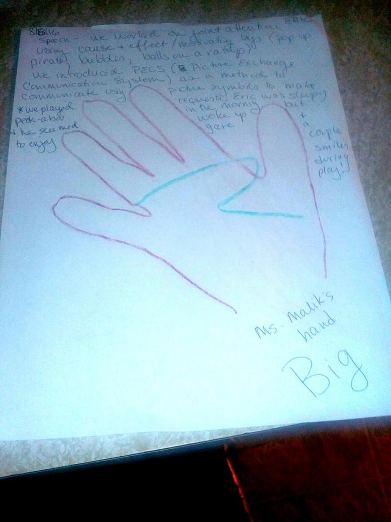 Eric's Big Hand by Ellecia