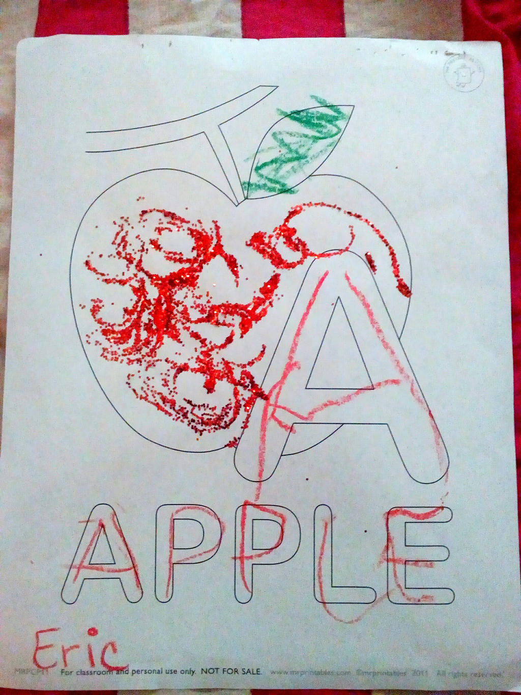 A is for Apple by Eric by Ellecia