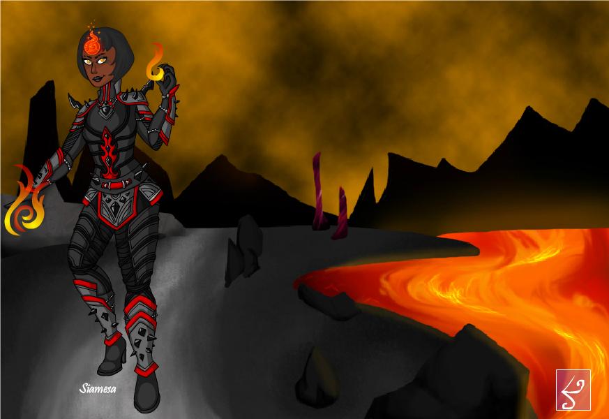 Devilgirl As A Fire Bender by Ellecia