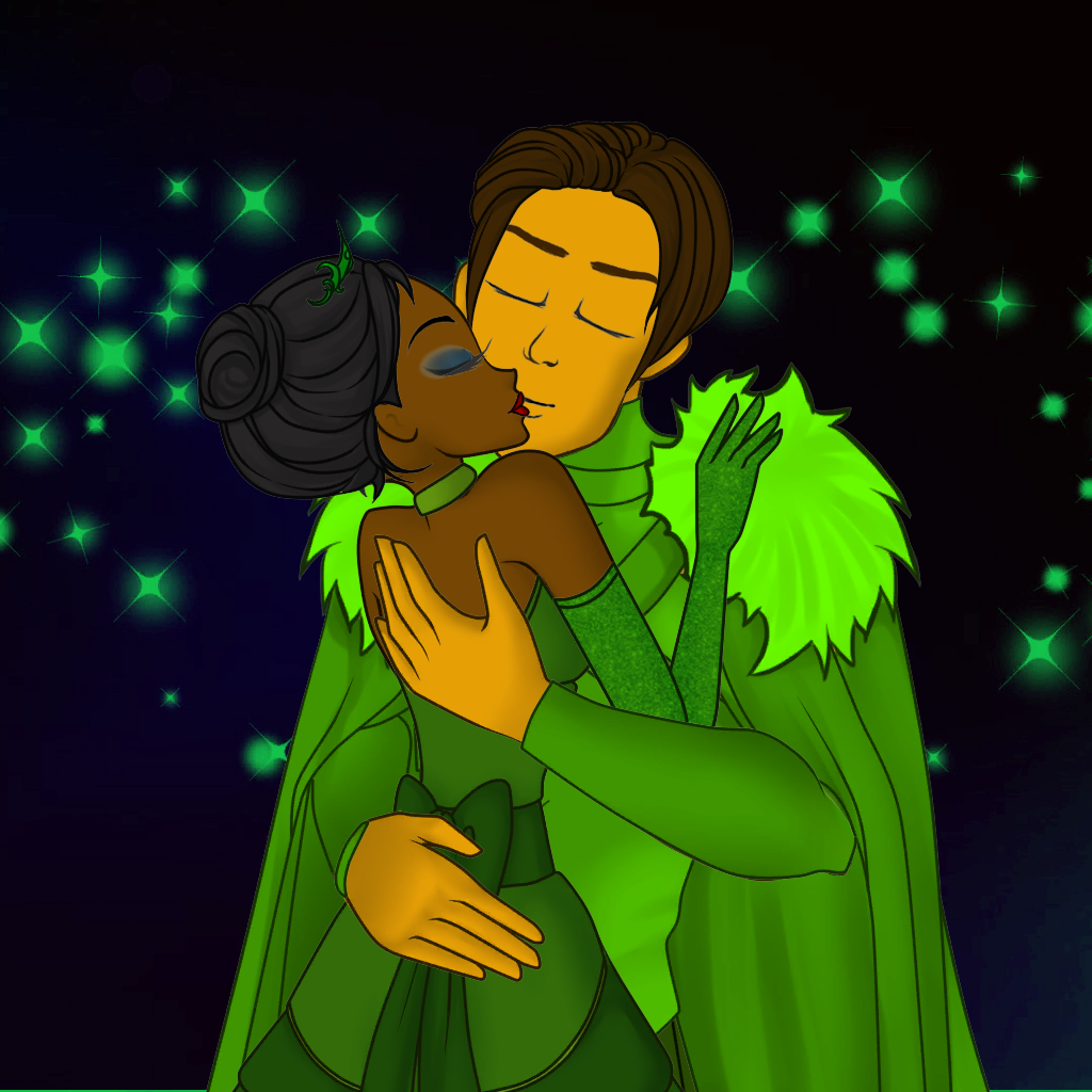 Naveen and Tiana by Ellecia
