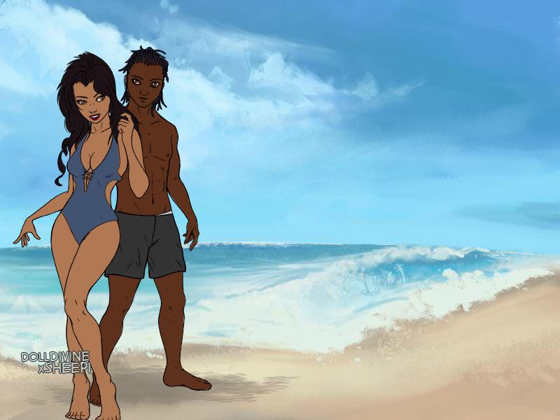 A Walk On The Beach by Ellecia