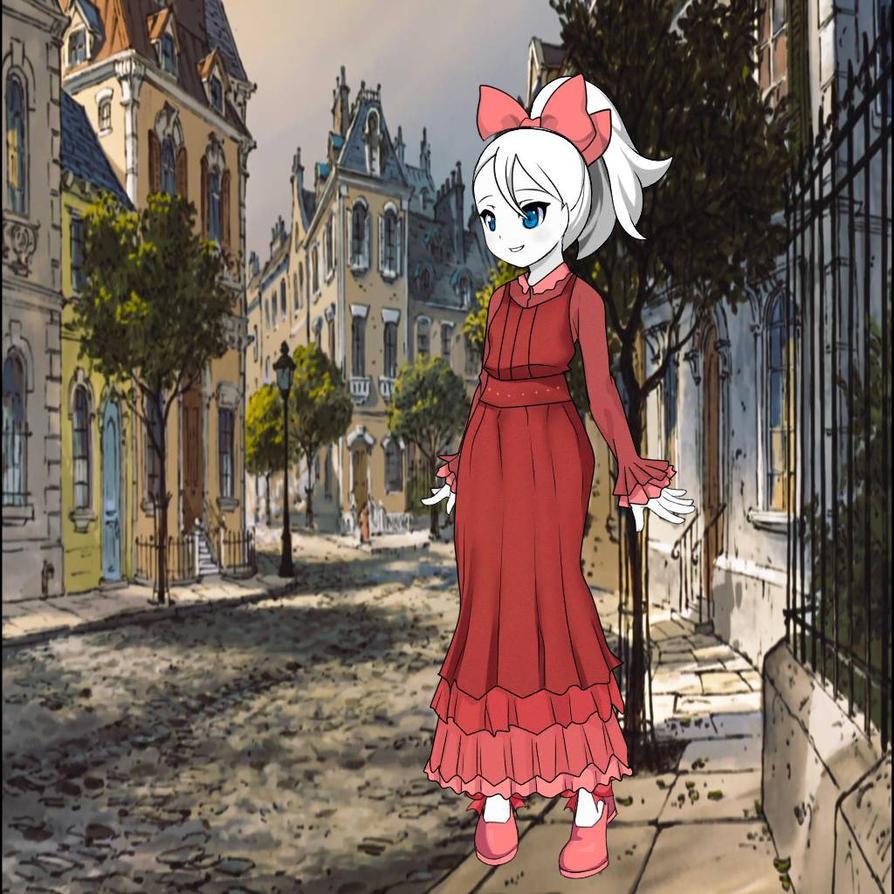 Marie Walking Through Paris by Ellecia