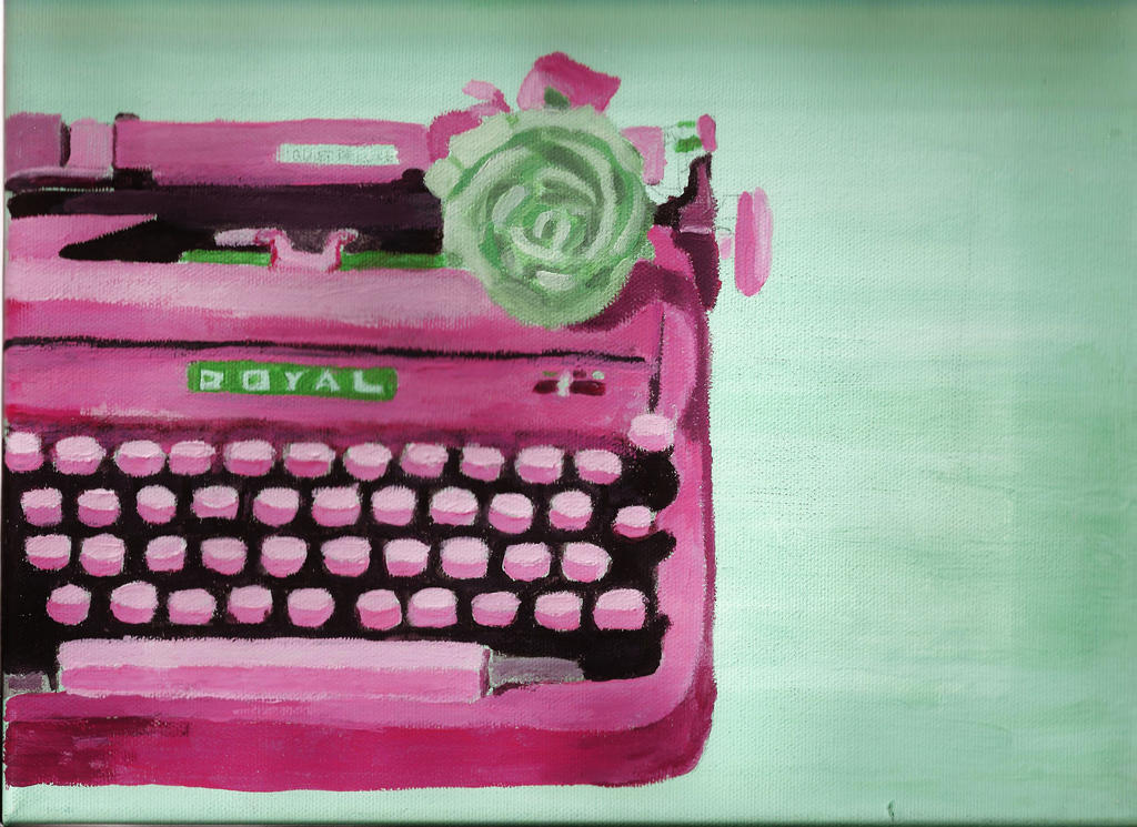 Pop Art Typewriter 1 by peridotgirl96