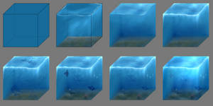 Drawing Process (Cube of the Ocean)