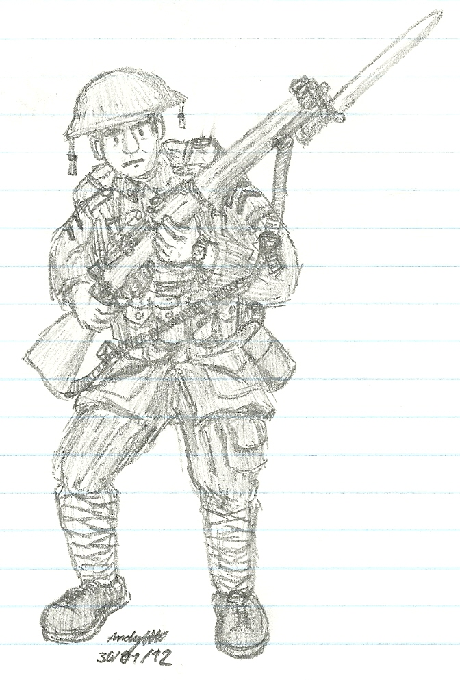 american soldier drawing - photo #25