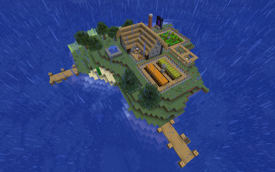 Minecraft 1 2 3 World - The Island by NDTwoFives on DeviantArt