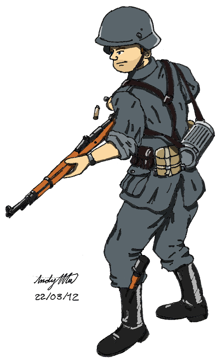 Wwii Wehrmacht Soldier By Ndtwofives On Deviantart