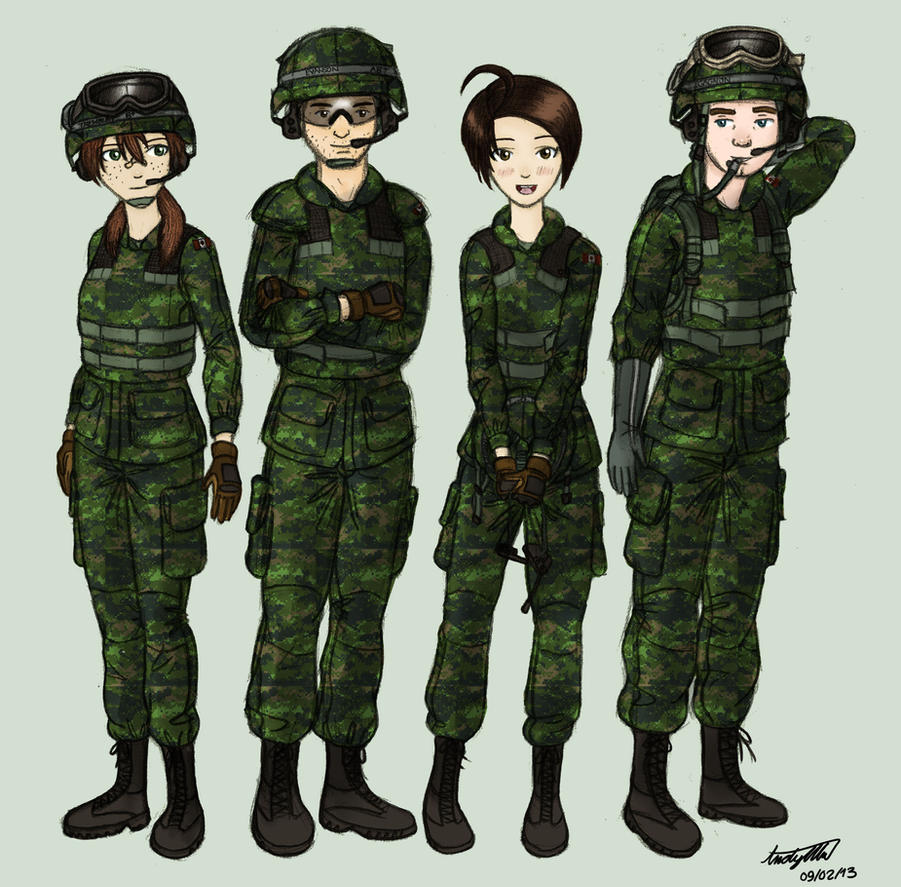 Leopard 2 2A6M CAN Crew (Colored) by NDTwoFives