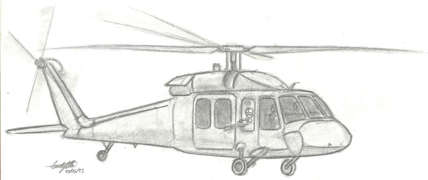 UH-60 Black Hawk doodle by NDTwoFives