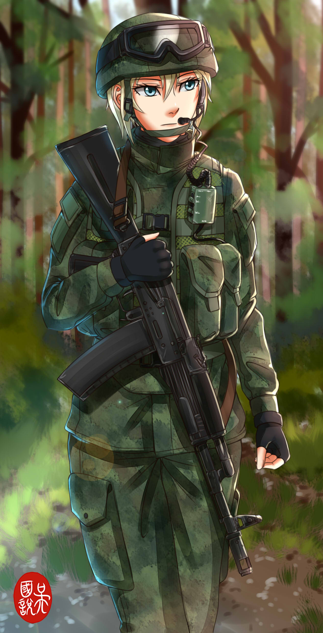 Guy in army uniform masturbating 9