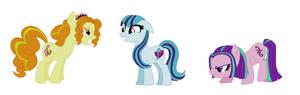 The Dazzlings as Ponies