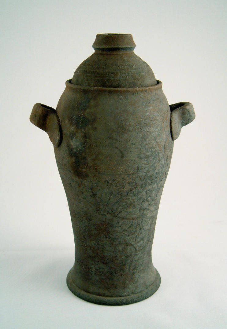 Raku, Lidded Container by Nudessence