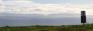 Ocean Background Panorama by Pawkeet