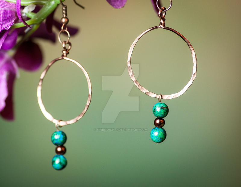 Handmade Copper Hoop Earrings by firesign24-7