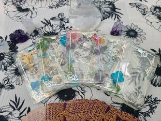 Handmade resin tarot cards