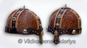 A Viking Leather Helmet
