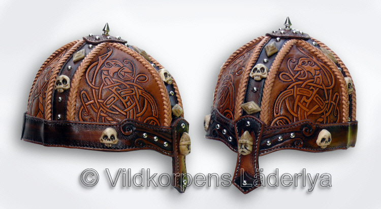 A Viking Leather Helmet by Vildkorpens-Laderlya