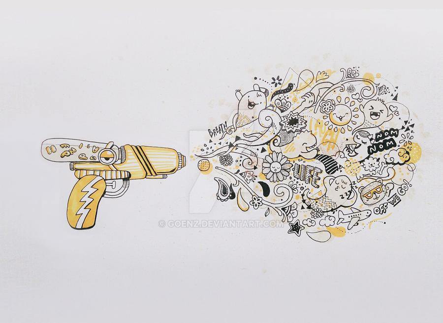 Happiness is a warm Gun by goenz