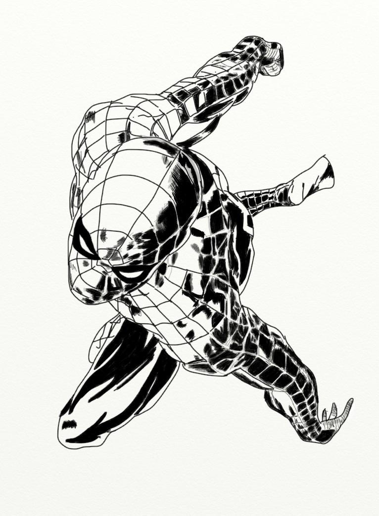 Cartone animato di spiderman - disegni da colorare - imagixs