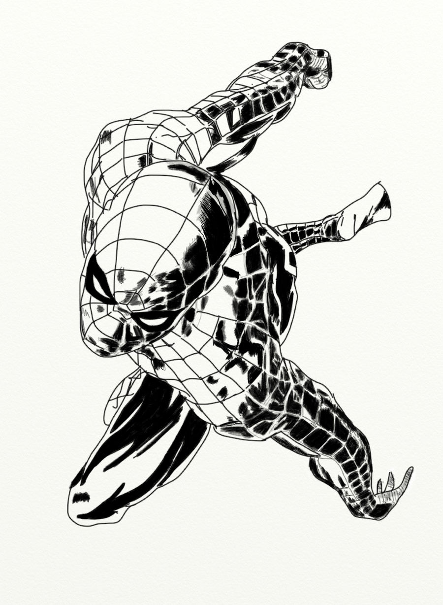 Spider-man ink