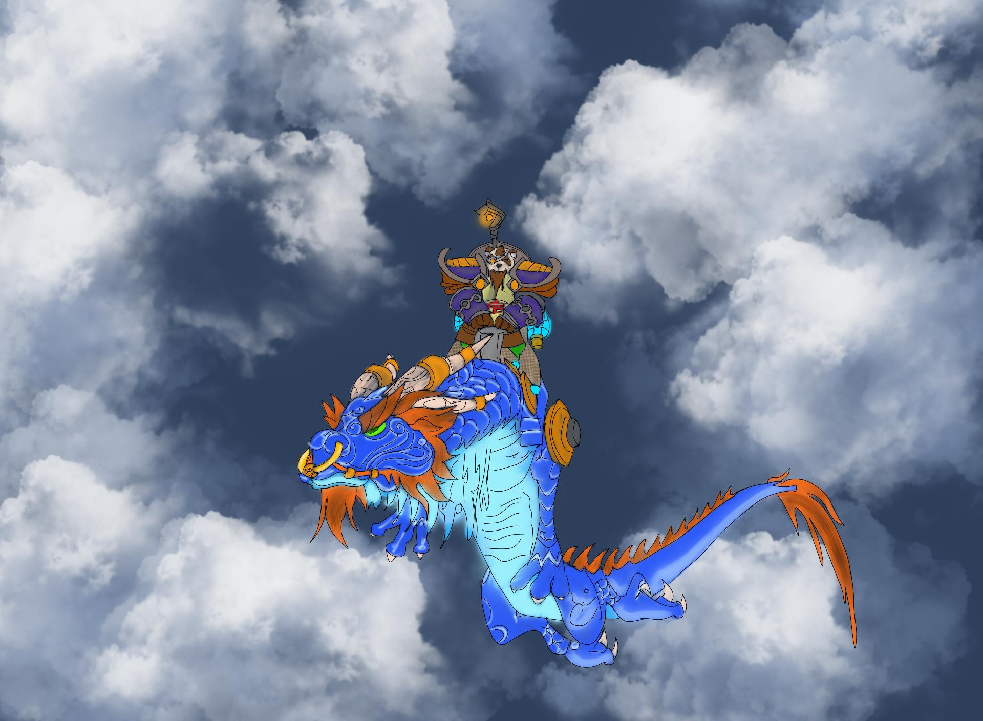 Lodur on a Dragon