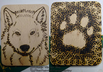 Wolf Woodburning by Tropicanine