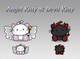 Angel Kitty and Devil Kitty